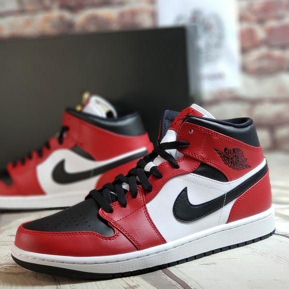 Jordan Shoes Nike Air 1 Mid Chicago Black Toe Poshmark